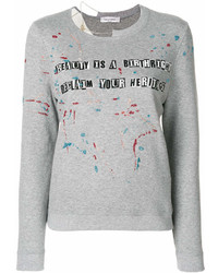Sweat-shirt imprimé gris Valentino