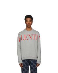 Sweat-shirt imprimé gris Valentino