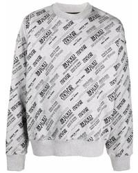 Sweat-shirt imprimé gris VERSACE JEANS COUTURE