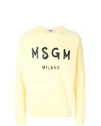 Sweat-shirt imprimé jaune