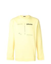 Sweat-shirt imprimé jaune Raf Simons