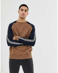 Sweat-shirt imprimé marron New Look