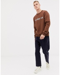 Sweat-shirt imprimé marron Tiger of Sweden Jeans