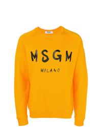 Sweat-shirt imprimé moutarde MSGM