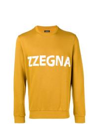 Sweat-shirt imprimé moutarde Z Zegna