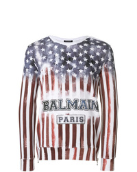 Sweat-shirt imprimé multicolore Balmain