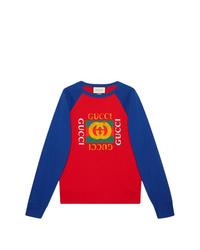 Sweat-shirt imprimé multicolore Gucci