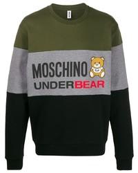 Sweat-shirt imprimé multicolore Moschino