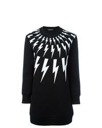 Sweat-shirt imprimé noir et blanc