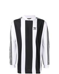 Sweat-shirt imprimé noir et blanc adidas