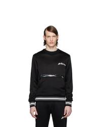 Sweat-shirt imprimé noir et blanc Alexander McQueen