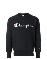 Sweat-shirt imprimé noir et blanc Champion