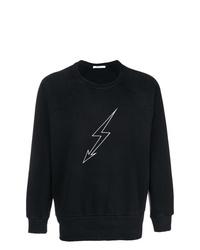 Sweat-shirt imprimé noir et blanc Givenchy