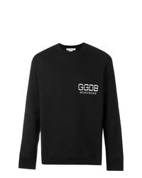 Sweat-shirt imprimé noir et blanc Golden Goose Deluxe Brand