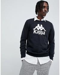 Sweat-shirt imprimé noir et blanc Kappa
