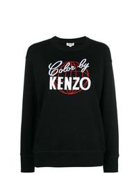 Sweat-shirt imprimé noir et blanc Kenzo