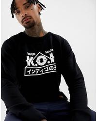Sweat-shirt imprimé noir et blanc Kings Of Indigo