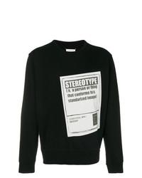 Sweat-shirt imprimé noir et blanc Maison Margiela