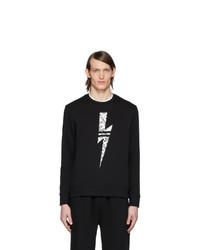 Sweat-shirt imprimé noir et blanc Neil Barrett