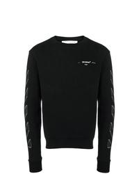 Sweat-shirt imprimé noir et blanc Off-White