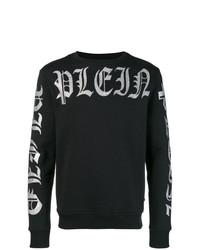Sweat-shirt imprimé noir et blanc Philipp Plein