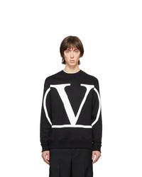 Sweat-shirt imprimé noir et blanc Valentino