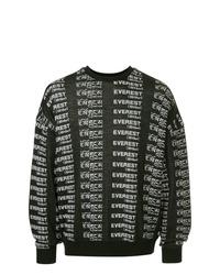 Sweat-shirt imprimé noir et blanc Yoshiokubo