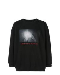 Sweat-shirt imprimé noir Adaptation