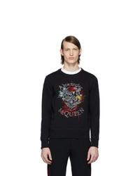 Sweat-shirt imprimé noir Alexander McQueen