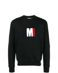 Sweat-shirt imprimé noir AMI Alexandre Mattiussi