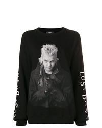 Sweat-shirt imprimé noir Amiri