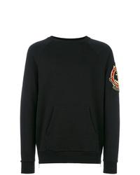 Sweat-shirt imprimé noir Balmain