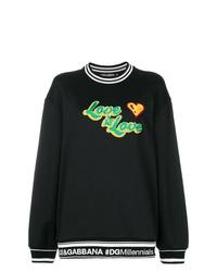 Sweat-shirt imprimé noir Dolce & Gabbana
