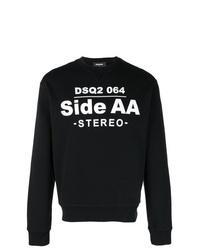 Sweat-shirt imprimé noir DSQUARED2