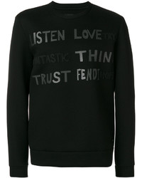Sweat-shirt imprimé noir Fendi