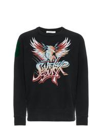 Sweat-shirt imprimé noir Givenchy