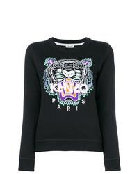Sweat-shirt imprimé noir Kenzo