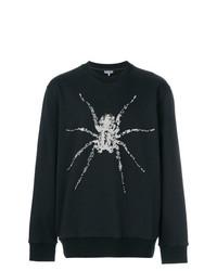 Sweat-shirt imprimé noir Lanvin