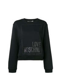 Sweat-shirt imprimé noir Love Moschino