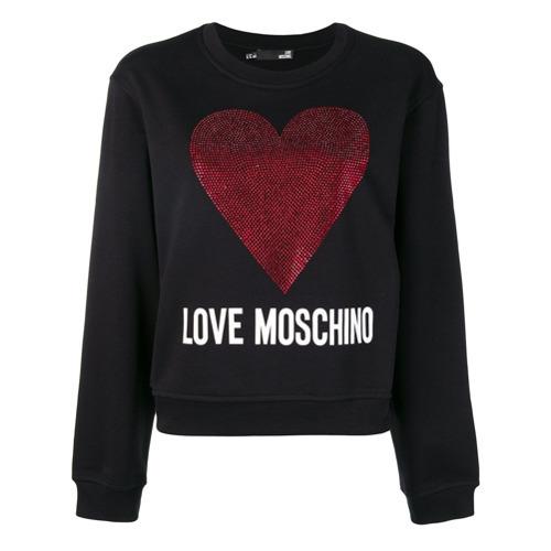 Sweat-shirt imprimé noir Love Moschino
