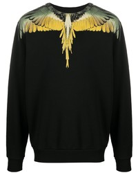 Sweat-shirt imprimé noir Marcelo Burlon County of Milan