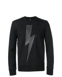 Sweat-shirt imprimé noir Neil Barrett