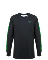 Sweat-shirt imprimé noir Off-White