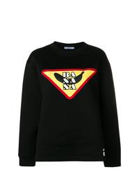 Sweat-shirt imprimé noir Prada