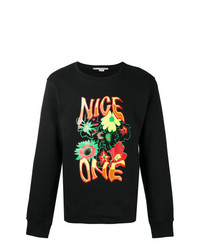 Sweat-shirt imprimé noir Stella McCartney