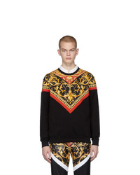 Sweat-shirt imprimé noir Versace
