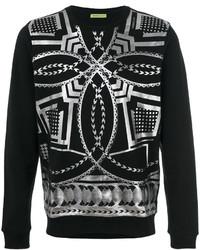 Sweat-shirt imprimé noir Versace