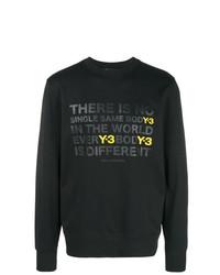 Sweat-shirt imprimé noir Y-3