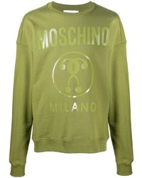 Sweat-shirt imprimé olive Moschino