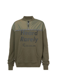 Sweat-shirt imprimé olive Mostly Heard Rarely Seen